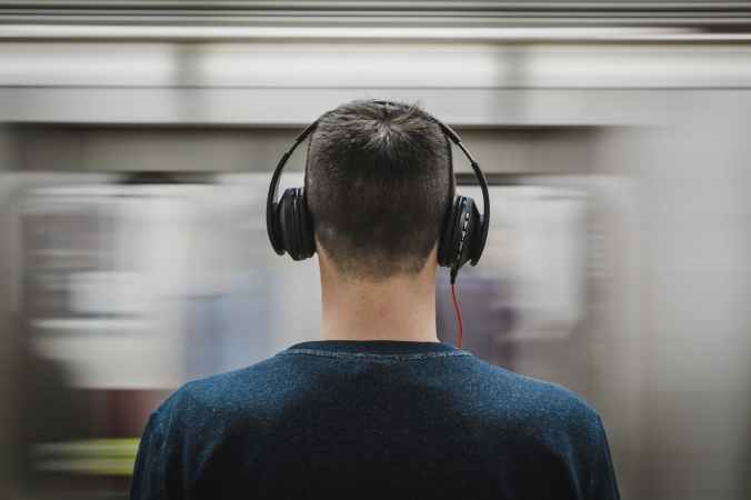 headphones man music person
